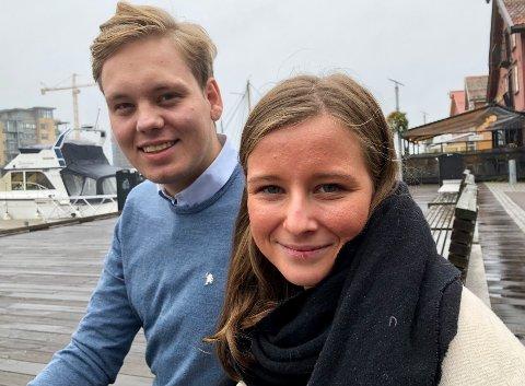 SKAPER AVSTAND: – Det er viktig at politikere har forankring og tillit i befolkningen. Høye godtgjørelser skaper avstand, sier Karoline Aarvold og Fredrik Halsen.