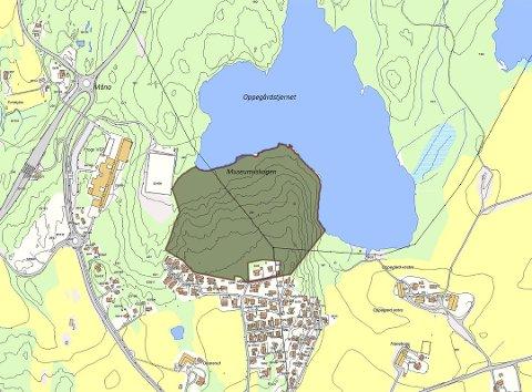 Nydelig beliggenhet: Kommunenkjøper ca 400 mål tomt ved idylliske Oppegårdtjernet, som tidligere var Frogns drikkevannskilde.