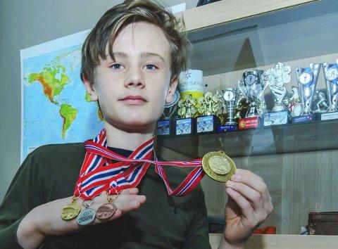 Mange premier: Håkon Emiil Heir har i år tatt skimedaljer i alle valører, både fra KM og NM.Foto: Bonsak Hammeraas