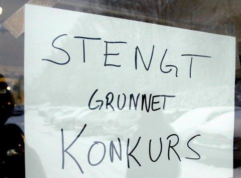 STENGTE DØRER: Når et selskap går konkurs, møter kunder og ansatte stengte dører.