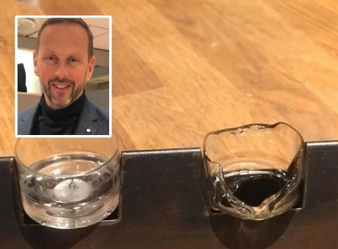 REAGERER: Julian Storsletten (innfeltet) hadde en svært dårlig opplevelse med telysholderne i plastikk fra Nille.