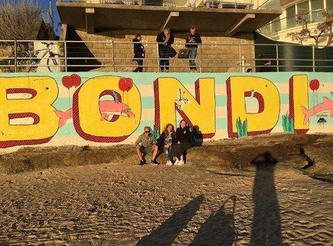 Hennar beste minne frå reisen var å vere på Bondi beach.