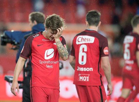 Fredrik Haugen og flere andre spillere er usikre før søndagens bortekamp mot Molde. (Foto: Arne Ristesund)