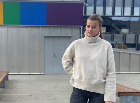KONGSBERG: Frida Fossedal studerer i Kongsberg, og var tett på dramaet som føregjekk onsdag kveld.