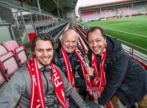 Velkommen! Joacim Heier, Per-Mathias Høgmo og Renè Svendsen håper på et godt publikumsfremmøte i seriepremieren mot Asker 15. april. (Foto: Geir A. Carlsson)