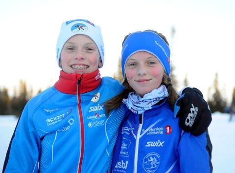 Tvillingene Martinus og Alida Staune-Mittet (12) fra Lillehammer Skiklub, var fornøyd med innsatsen.