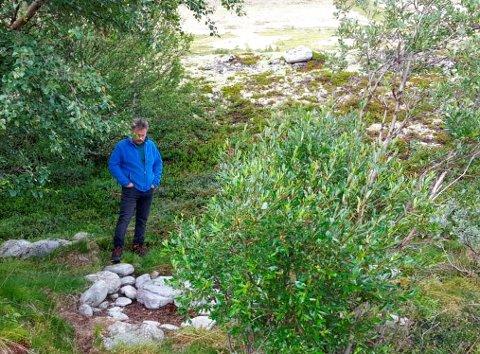 INGEN DO: Trond Stordal der utendoen ble fjernet da fjellturistene kom.