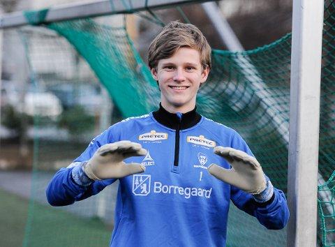 KEEPERTALENT: Petter Bønøgård (16, blir 17 i april) fra Aremark gjør det bra i Sarpsborg 08, og håper på mye spilletid for sarpingenes juniorlag i interkrets.