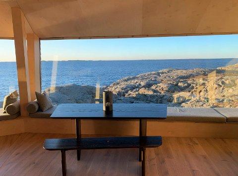 WOW: Første møte med Horda-Kåre og utsikten til storhavet. Alt ligger til rette for et topp døgn på Ryvarden.