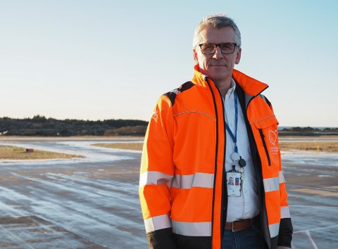NYE AVTALER PÅ PLASS: Pål Visnes er kommersiell leder i Haugesund lufthavn Karmøy.
