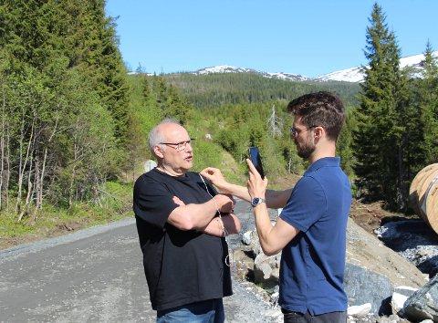 Bjørnar Moxnes kobler opp Tor Evensen som orienterte om Øyfjellet vindkraftverk på Rødts FB-profil.