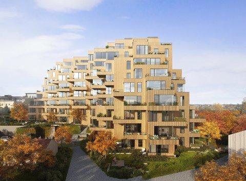 Den spesielle arkitekturen til prosjekt Gotaasalleen har gjort at Privatmegleren har fått flere henvendelser fra folk som er bosatt i Oslo og som tror at leilighetene ligger i hovedstaden.