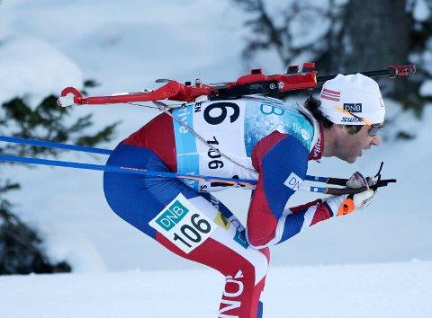 Ole Einar Bjørndalen under menn 10 km sprint