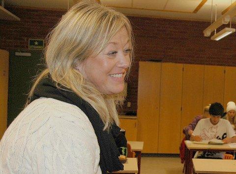 I KARANTENE: Rektor Anne Birgit Brunvatne på Tislegård ungdomsskole er én av dem som må holde seg hjemme.