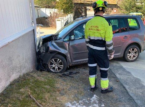 ULYKKE: Nødetatene rykket ut til en ulykke lørdag.