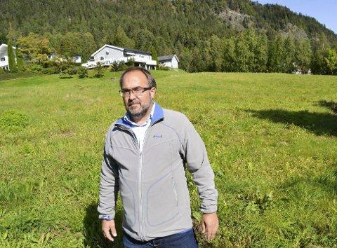 RETTSSAK: I april møtes Per Christian Karlsen etter at kommunen i siste instans stanset planene om boligutbygging på Torstadåsen på Egge.FOTO: DRammens Tidende