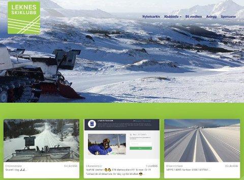 NY NETTSIDE: Leknes skiklubb åpner sin nye nettside fredag klokka tolv.