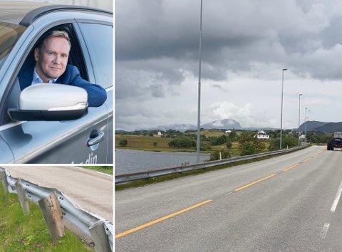 Leder Geirr Tangstad-Holdal reagerer på lave og løse veltebøyler, som han mener gir lite utover en falsk trygghet.