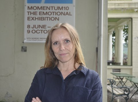 GALLERI F15: Maria Havstam har jobbet på Galleri F15 siden 2010. Torsdag holder hun foredrag på F15 Verksted.