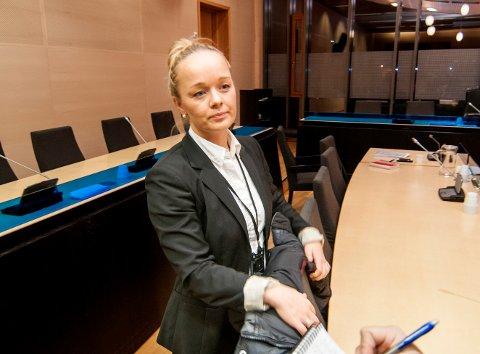 FIRE UKER: Politiet vil fengsle den drapssiktede 21-åringen i fire uker. Her er politiadvokat Kirsti Jullum Jensen i retten onsdag ettermiddag.