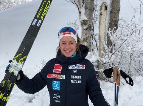 OVERLEGEN: Anna Svendsen var totalt overlegen da hun vant Skandinavisk Cup-sprinten i Østersund fredag.