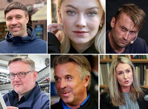 MEDIEPENGER: En del sterke stemmer fra Trøndelag hadde gode år i fjor. Arne Reginiussen, Astrid Smeplass, Petter Northug, John Arne Moen, Jahn Ivar Jakobsen og Kirsti Husby hadde cirka 10 millioner kroner i inntekt - etter alle skattefradrag.