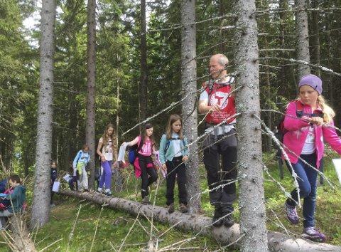 FERIEALTERNATIV: DNT Gjøvik og Omegn inviterer ferierende barn til glade dager på Trollheim i Vestre Toten. Foto: Kari Løken Karlsnes