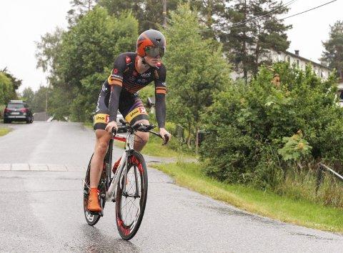 Carl Fredrik Hagen endte på 20. plass på NM-tempoen, seks minutter bak vinner Edvald Boasson Hagen.