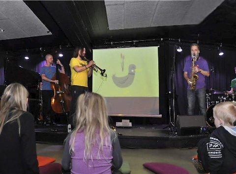 Jazzoo: En Visuell jazzopplevelse for barn, her fra konserten da Jazzoo sist gjestet Jernvaren.