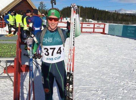 Even Mangset (M19) ble lørdag nummer fem på normaldistansen i NM på Voss.