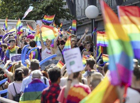 Feiring: Mange har meldt sin ankomst til Pride i Brumunddal førstkommende lørdag.Foto: Audun Braastad/NTB scanpix