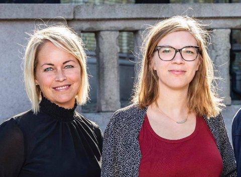 TOPPKANDIDATER: Silje Josten Kjosbakken (t.v.) og Marie Sneve Martinussen ligger godt an til å bli Rødts fremste kandidater ved stortingsvalget.