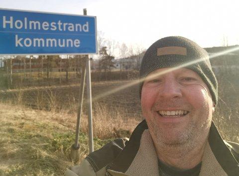 GIKK BRA TIL HOLMESTRAND: De første 4,5 milene gikk fint, så kom gnagsårene. FOTO: Leif Arild Jensen