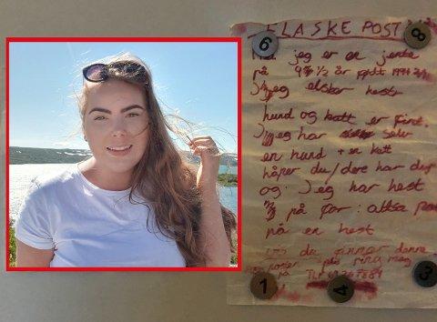 LØST: Nå er mysteriet med den 17 år gamle flaskeposten som nylig ble funnet i Vansjø, løst.