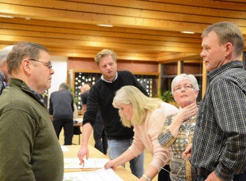 LIVLIG DEBATT: Det ble livlig debatt under dette gruppearbeidet. Kari Løvskeid i midten. Foto: Roar Hushagen