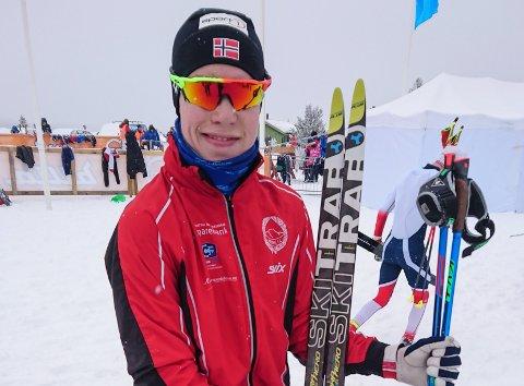 GULLGUTT: Vebjørn Hovdejord vant gull i stafett og ble fjerdemann på 7,5 kilometer under Hovedlandsrennet.