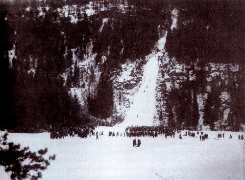 REKORD: Her kunne det blitt satt verdensrekord i skihopp om ikke Norges skiforbund hadde nektet hopp på over 100 meter i Norge.