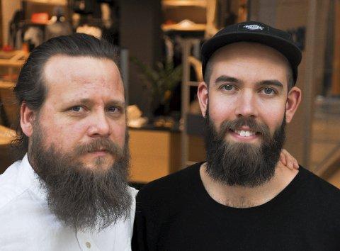 Mats Line (til høyre) og Nils Jørgen Fritzø ble i utgangspunktet inspirert av motebildet, nå er skjegget blitt en del av dem og de har skjegg for skjeggets egen skyld.