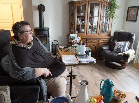 OVER FEM ÅR: Hilde Johanne Solvang har fått hjelp av hjemmetjenesten i Vestre Toten siden hun flyttet til Raufoss fra Gjøvik for fem og et halvt år siden.