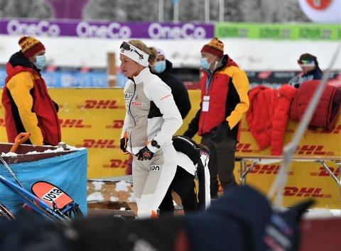 BRUKBART FORNØYD: Kathrine Harsem gikk inn til en tiendeplass under lørdagens 10 kilometer.