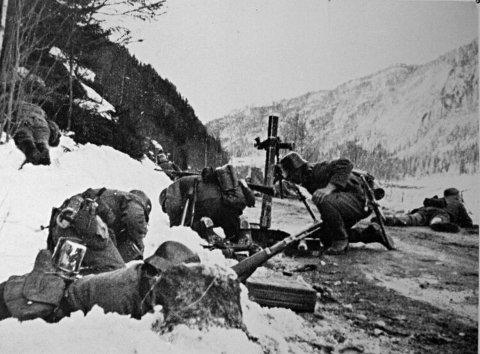 Bagn: Første føling med norsk motstand 18. april. Tyskerne overfalles av norsk patrulje fra landvernbataljonen ved Leite, fem kilometer sør for Bagn.