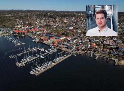GRÜNDER: Med sin ferske mobilapplikasjon vil Vetle Bjørnstad bidra til bedre utnyttelse av parkeringsplasser, blant annet i Son.