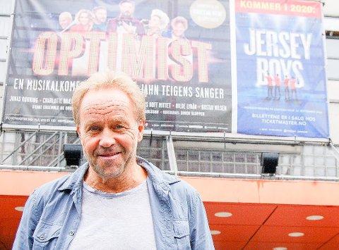 """SPILTE TEIGENS SANGER: Høsten 2019 satt Øystein Wiik opp musikalkomdien """"Optimist"""" på Chateau Neuf i Oslo, i forbindelse med Teigens 70-års dag.  Stykket var bygget opp rundt Teigens sanger"""