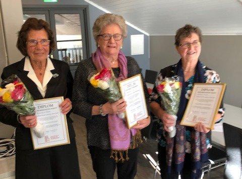 Heidra: Frå venstre Rannei Rødseth, Ragnhild Ansnes og Randi Lysø.