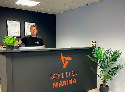 Robin Slåttekjær har nylig startet selskapet Søndeled Marina AS.