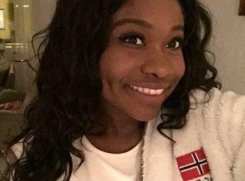 Sandra Afriyie Tito fra Bodø konkurrerer for å vinne.