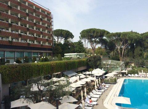 Hotel Rome Cavalieri. Iillustrasjonsbilde.