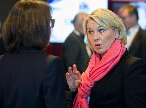 Næringsminister Monica Mæland under Høyres Landsmøte 2016 på Gardermoen.