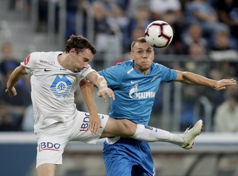 Molde og Vegard Forren kan lage trøbbel for Zenit hjemme på Aker stadion. (AP Photo/Dmitri Lovetsky)