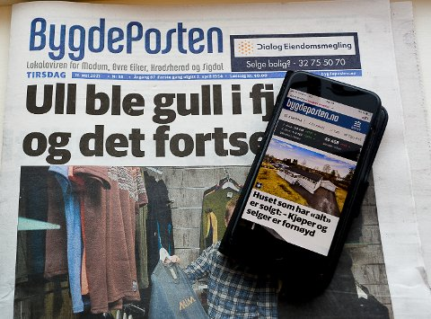 SNART STØRST PÅ MOBIL: Redaktør Knut Bråthen mener at Bygdeposten i løpet av 2021 vil ha flere lesere av mobilutgaven enn lesere av papiravisen.